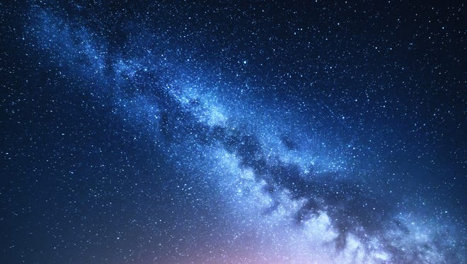 The Milky Way stretches across the sky. Visitors to Kartchner Caverns are likely to see such a view, which peaks during summer.