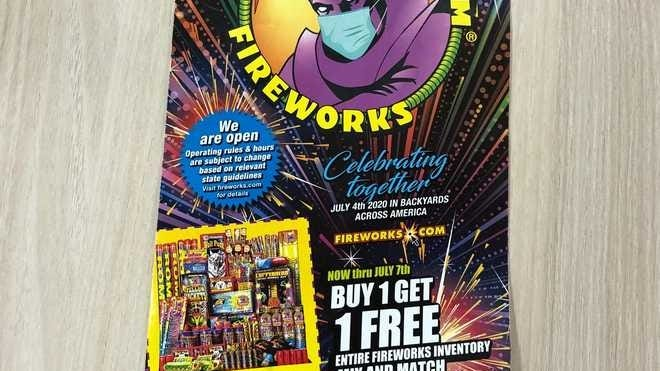 A Phantom Fireworks advertisement sent in the mail to a Massachusetts home.