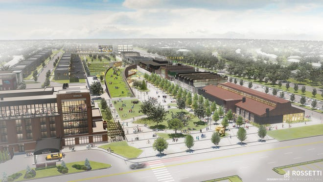 Titletown District artist rendering