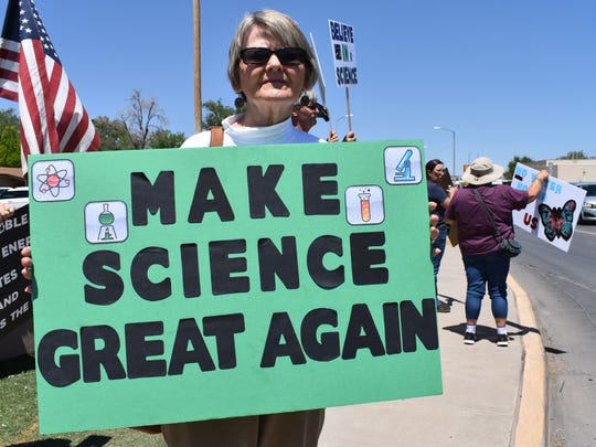 Joann Davis, an Alamogordo resident, said it was important to her to March for Science because she believes climate change is an important issue.
