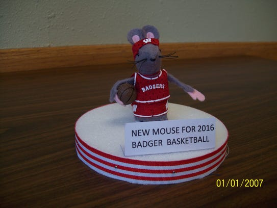The new Cathedral Mouse for 2016 is the Badger Basketball
