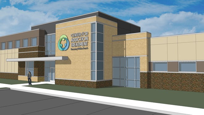 Rendering of Cincinnati Center for Addiction Treatment new building, for which a Lead the Change Campaign kicked off Friday.