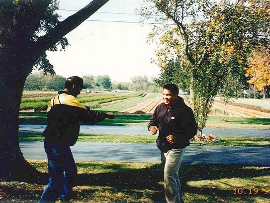 Muhammad Ali trains for a fight in Deer Lake, Pa. The