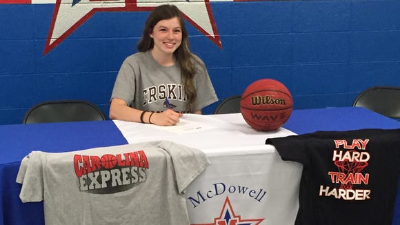 McDowell senior Cheyenne Matson has signed to play college basketball for Erskine (S.C.).