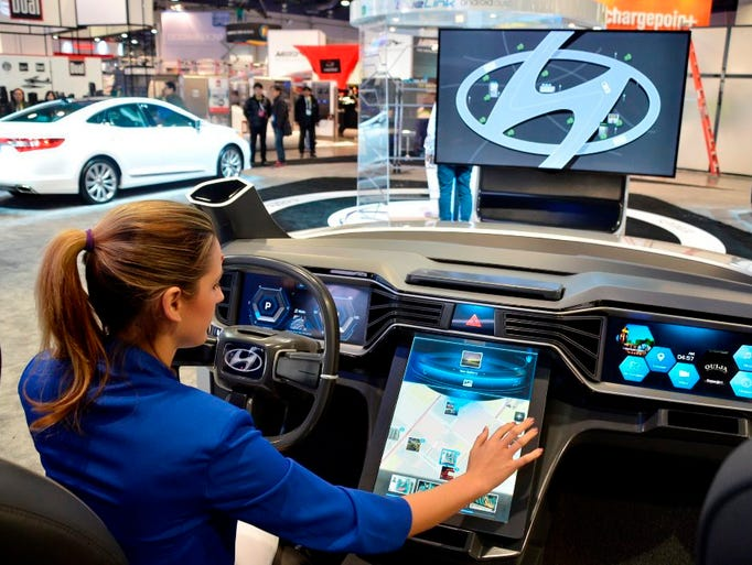 Ces 2015 cars and new technology for Hyundai motor company usa