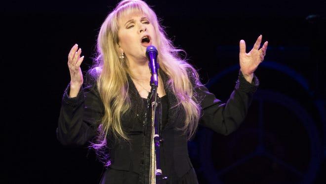 Stevie Nicks performs at Talking Stick Resort Arena in Phoenix, Ariz. October 25, 2016.