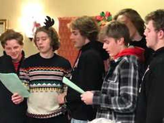 Hamilton Football Players Sing Christmas Carols