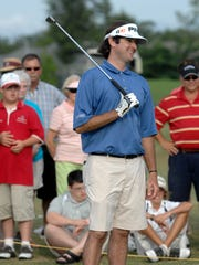Professional golfer Bubba Watson has a laugh in this