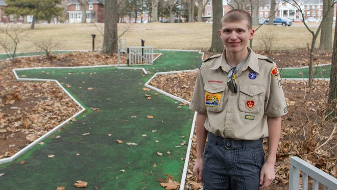 Jeff Richards plans to renovate the miniature golf course at the Battle Creek VA Medical Center as part of his Eagle Scout project.