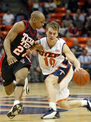 UTEP guard Chris Craig battled Texas Tech guard Ronald