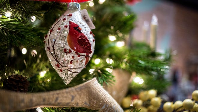Ornaments are displayed on a tree at Weekends in downtown Port Huron during the 2016 Small Business Saturday.