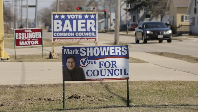 Campaign signs have been dotting the Oshkosh landscape for the past couple of months. Races for Oshkosh mayor and city council are on the April 4 ballot.