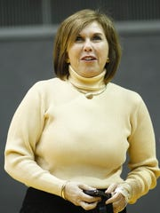 FILE – Nancy Cross, senior associate athletic director for development and sports.