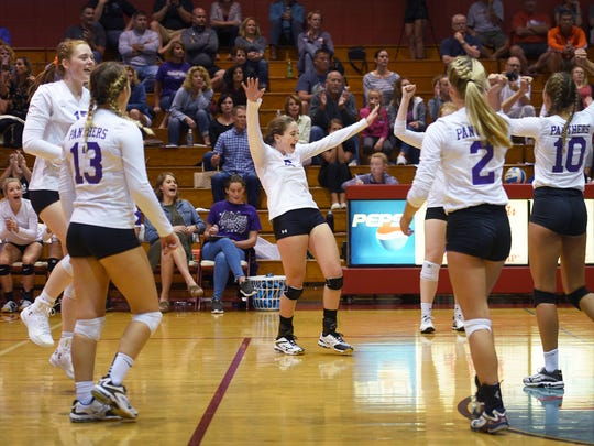 Dakota Valley, shown here during a 2017 match against Lincoln, has been a consistent contender in Class A volleyball.