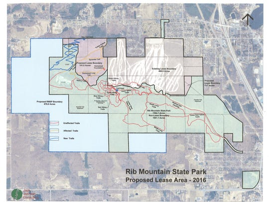 A map of what the proposed Granite Peak Ski Area expansion