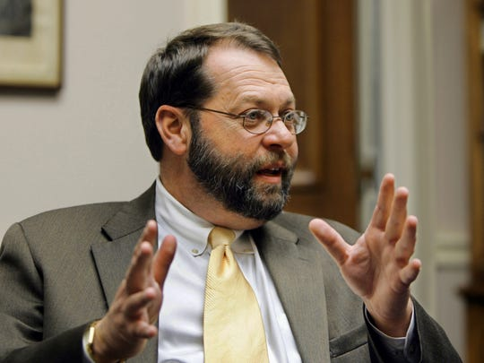 In this Nov. 17, 2004, file photo, Ohio Rep. Steven LaTourette speaks in his office on Capitol Hill in Washington. LaTourette is now a lobbyist.
