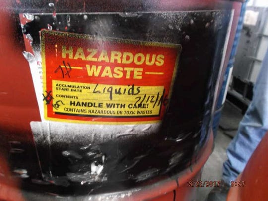 State environmental regulators issued violations at three Container Life Cycle Management industrial barrel reconditioning plants in Milwaukee for having hazardous waste on site without a permit. The labels on these barrels indicate a permit is needed, the DNR says.
