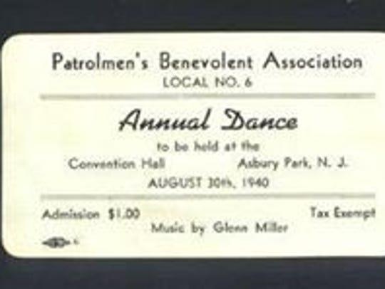 A ticket to the Asbury Park Patrolmen's Benevolent