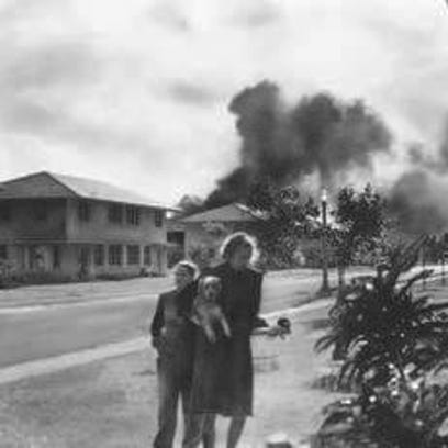 An unidentified officer's wife, investigates the explosion