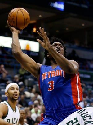 Detroit Pistons' Stanley Johnson (3).