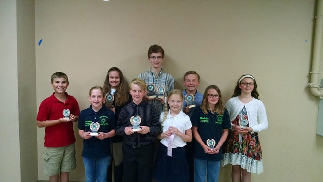 Sumner 4-H'ers who participated in Area Project Day are, from left, Picture L-R: Houston Pike, Gracie Leath, Sofia Morand, Aidan Soard, Austin Parker, Ella Graves, Jacob Graves, Maddie Rippy, and Hattie Martinek.