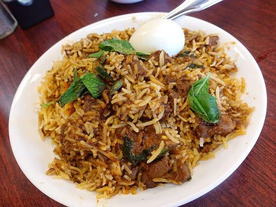 Goat biryani at Haldi Indian Cuisine in Surprise.