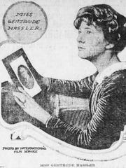 Gertrude Hassler posed with a photo of her former flame,