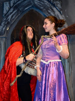 "The relationship between Rapunzel (played by Bria Nieves, left) and the Witch (Amanda Boyer) is at the heart of ""Rapunzel: A Brush with Fate.""  This original musical version of the classic fairy tale opens tonight at Pax Amicus Castle Theatre in Budd Lake."