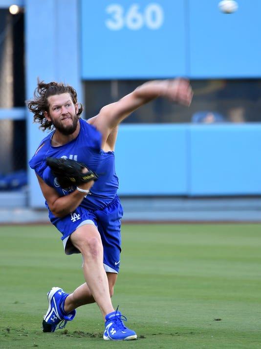 MLB: NLDS- Los Angeles Dodgers Workout