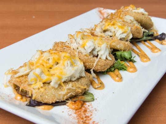 A view of the fried green tomatoes at Roadie Joe's