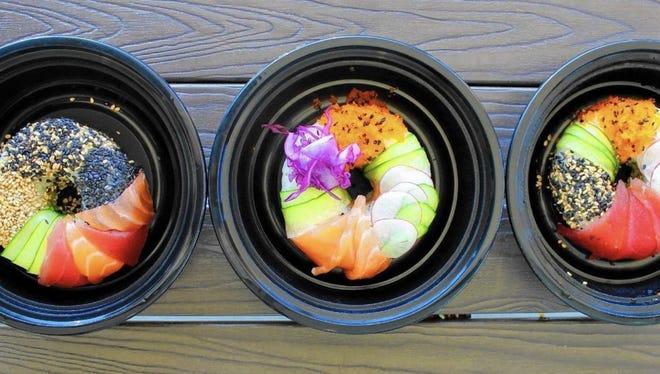 Sushi doughnuts will be served at Blu Bar Sushi.