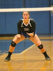 Salem senior libero Drew Smiley was one of the instigators behind Tuesday's charity contest.