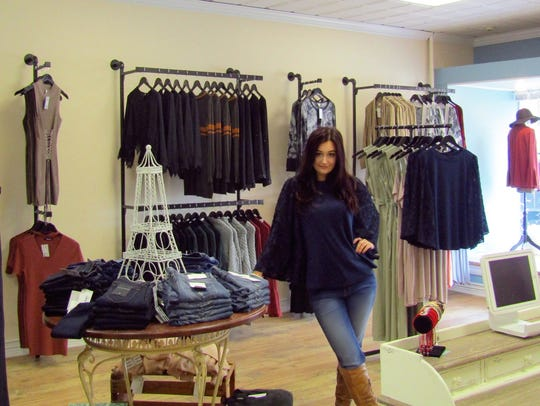 Owner Alexandra Luciano at the Grand Opening of her