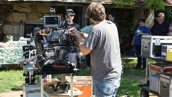 Camera crew prepared to shoot a short film in South