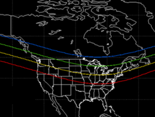 Northern Lights Possible Sunday Night Across Northern US Canada - Us map night