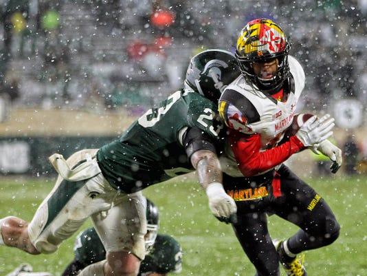 NCAA Football: Maryland at Michigan State