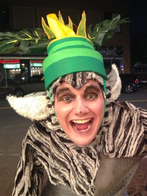 "Lemur King Julien (Jonathan Schaeffer) is one of the many nutty characters in ""Madagascar: A Musical Adventure"" at the Wichita Theatre."