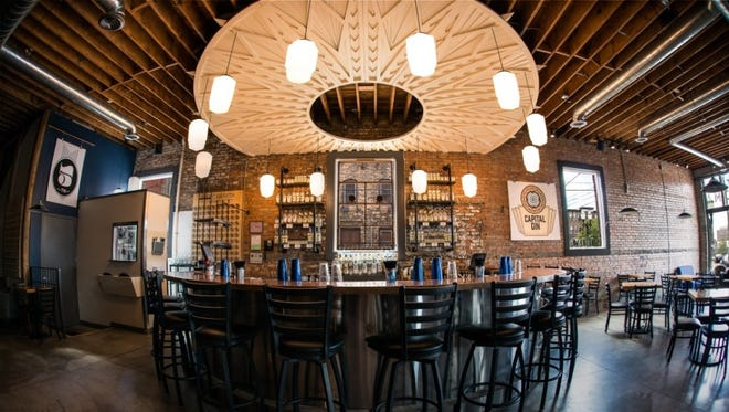 The interior of American Fifth Spirits at 112 N. Larch St.