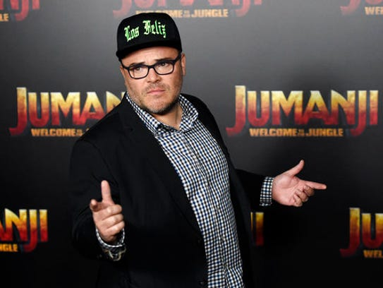 "Jack Black, a cast member in the upcoming movie ""Jumanji:"