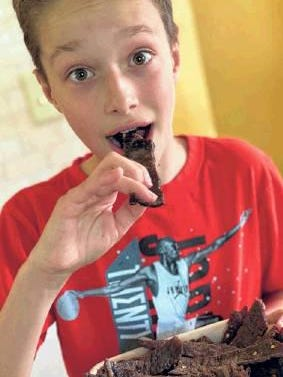 """Chef Michael Ollier's son has learned """"critical life skills"""" while staying at home with his dad."""