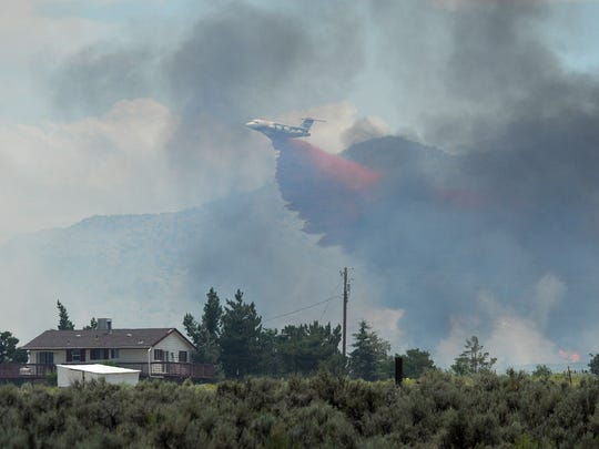 The Winnemucca Ranch Fire in the Palomino Valley on July 5, 2017.