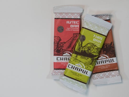 Chapul protein bars made with crickets photographed