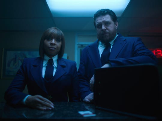 """Cha-Cha (Mary J. Blige) and Hazel (Cameron Britton) are assassins with an array of mundane problems in """"The Umbrella Academy."""""""