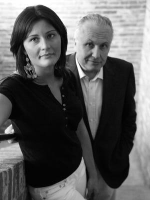 Gaia Gaja with her father Angelo Gaja in Piedmont, Italy.