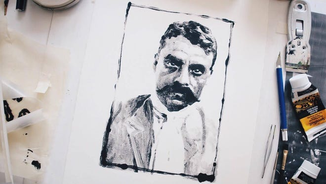 Pagosa Springs, Colo., artist Ursala Hudson's monoprints are the product of 30 to 40 hours of work each.