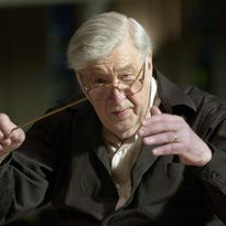 Gunther Schuller leads the Appleton Boy Choir during a rehearsal in 2003 at the Lawrence Memorial Chapel in Appleton.
