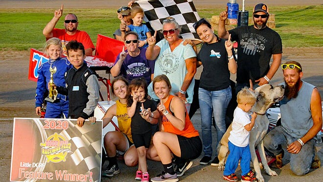 Deekan McRoberts finished the Novice Junior Sprint and Junior Kart with wins capping off a double-perfect season on the year at Dodge City Raceway Park Little DCRP on Sunday. PHOTO BY LONNIE WHEATLEY/SPECIAL TO THE GLOBE