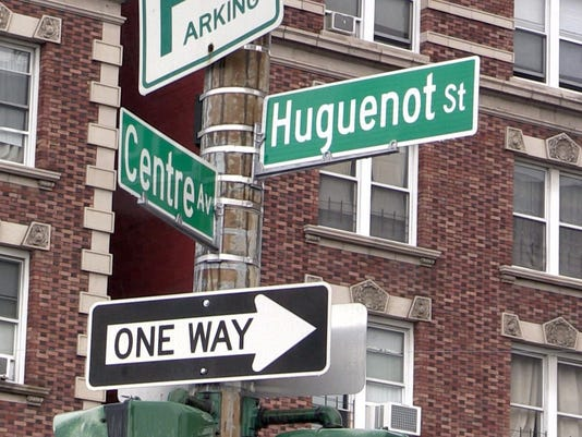Main and Hugeonot Streets in New Rochelle