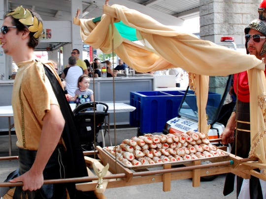 Festa Italiana is serious about its cannoli, and the festival's popular cannoli-eating contest.