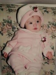 Alaina Ladaro as a baby